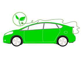 "Illustration of a ""green"" car"