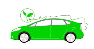 "Ilustration of a ""green"" car"