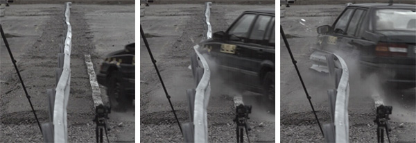 Three sequences of guardrail test