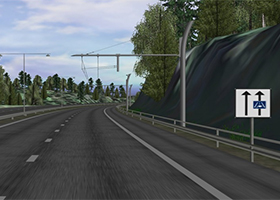 Simulation of electrified roads