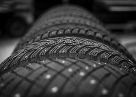 Image of studded tyres.