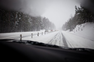 Motorway during winter.