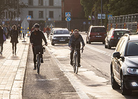 Cyclists are one category of unprotected road users