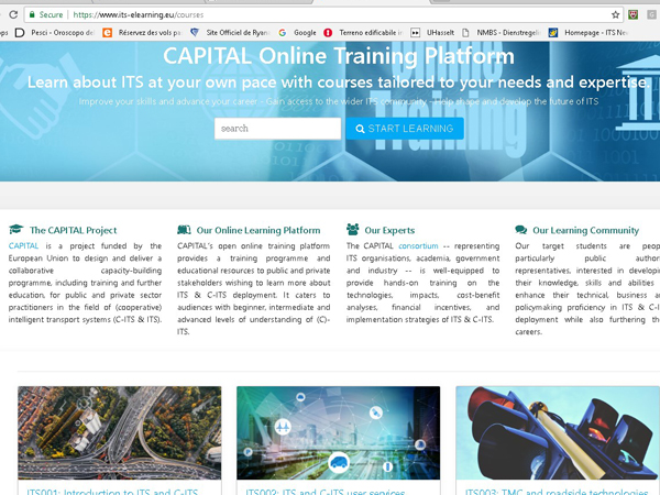 CAPITAL Online Training Platform for ITS and C-ITS