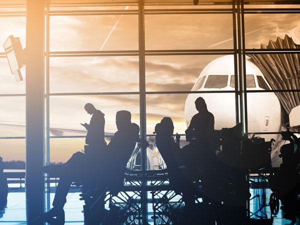 Passengers waiting at airport